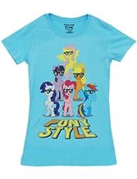 My Little Pony Mane 6 Pony Style With Glasses Junior Sky blau T-Shirt