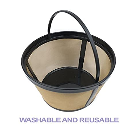 Bestwoo Reuseable Permanent Basket-Style Coffee Filter designed for Mr. Coffee 8-12 Cup Basket-Style Coffee makers