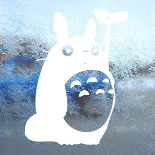 Preisvergleich Produktbild Aufkleber Totoro White Decal Studio Ghibli Car Window Laptop White Sticker