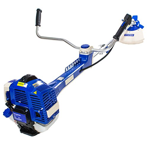 Hyundai 51cc 2-Stroke Anti-Vibration Petrol Grass Trimmer/Strimmer/Brushcutter HYBC5080AV – Blue