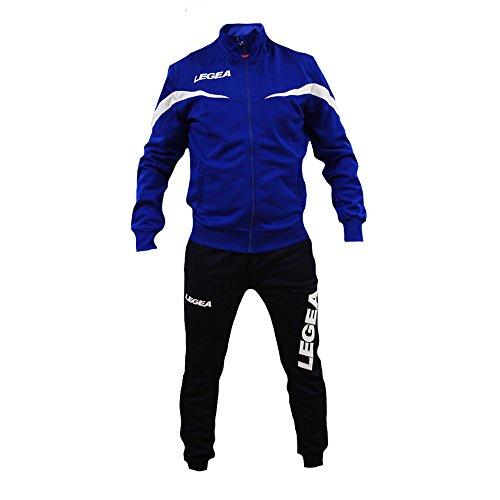 Tuta Legea Mosca T122 Uomo Allenamento Fitness Calcio Tempo Libero Vari Colori e TG ... (M, Azzurro/Blu)