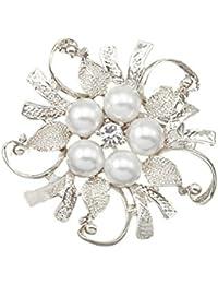 SODIAL de Diamantes de de imitacion flores ramo Alfiler R de Broche Boda Flor rx8HwrzYq