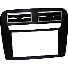 Mascherina autoradio 2 DIN per FIAT Grande Punto. Kit installazione DOPPIO DIN completo di staffe per il montaggio, PURO senza cornice adatto per radio con monitor motorizzato. Colore mascherina: NERO