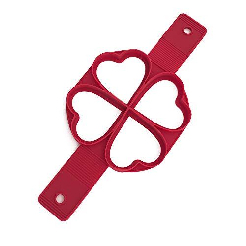 TFENG Pfannkuchen Form, Nonstick SiLikon Kuchenform, Ei Ring DIY Pancake Form (Herz) (Form Pfannkuchen-herz)