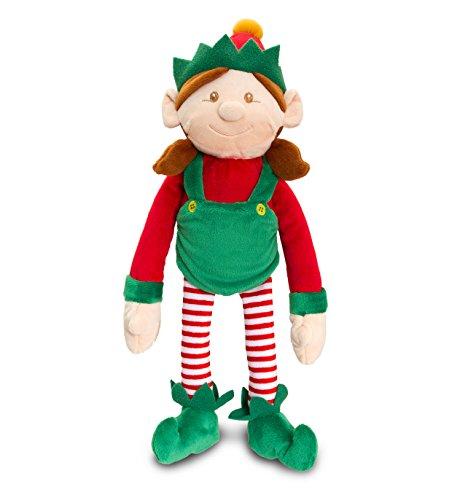 üsch-weiches Spielzeug gekleidet in Rot & Grün mit Rassel - Weihnachtsstrumpf Füllstoffe ()