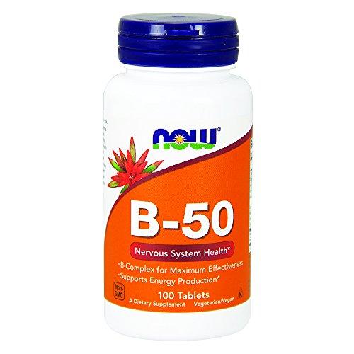 B-50 B-complex Vitamin (Now Foods, B-50 Vitamin-B-Komplex, 100 Tabletten)