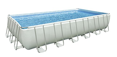 Intex 28366 Ultra Frame Pool 732 x 366 x 132 cm I.1, Pumpe A Sand Combo, Leiter Doppel Badetuch, Base, Abdeckplane, Kit Puli Deluxe, set Volleyball I.1 -