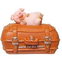 """Preisvergleich für wunderschöne Spardose,Sparbüchse,Rentenkasse Koffer mit Schweinchen """"Rente"""""""