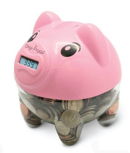 Price comparison product image The Digi-Piggy Digital Coin Counting Bank (Pink) by Cisco Sales