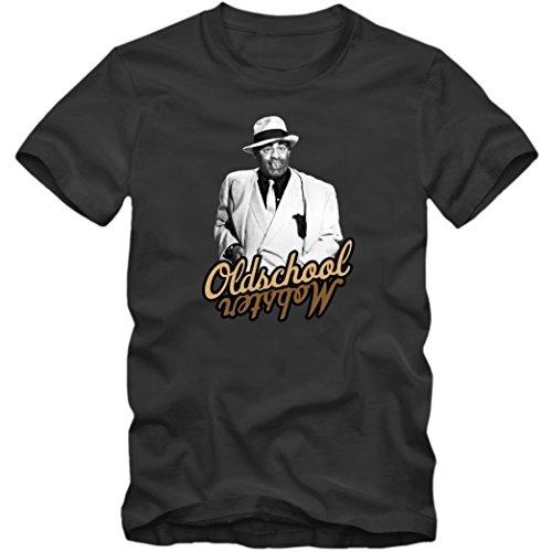 Jerry Lewis #1 T-Shirt  Oldschool Mobster   Kampf gegen die Mafia   Hallo Page!   Slapstick  Fanshirt © Shirt Happenz Dunkelgrau (Dark Grey L190)