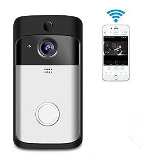 KEZIO Video Türklingel Smart Wireless Home WiFi Überwachungskamera Indoor Chime 2-Way Talk Nachtsicht PIR Bewegungserkennung APP Control für iOS Android Accfly