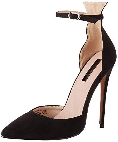 Lost Ink Damen Ankle Strap Stiletto Court Riemchen Pumps Black 0001 637a769acc