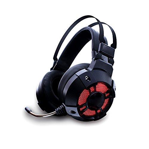 Gaming Headset, GAKOV GAHG11 7.1 Surround Stereo Sound USB Computer Kopfhörer mit Mic,LED Licht,Bass Surround & Geräuschunterdrückung Mikrophon Weiche Memoryfoam Ohrpolster für PC Gamer (Psp Spiele Stadt)