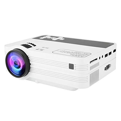 Garsent Videoprojektoren, 2000 Lumen Full HD 1080P LED WiFi Projektor Unterstützung HDMI, USB, VGA, AV, SD-Karte, Android 6.0 Multimedia Heimkino Beamer(110-240V EU) - 1.7 G Speicher