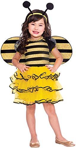 Fancy Me Mädchen Kleinkind Kleine Honig Biene Tier Insekt Mini Beast World Buch Tag Woche Karneval Kostüm ()