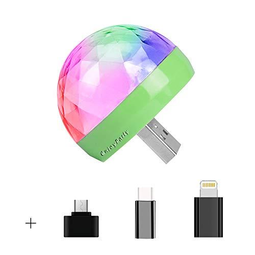 Mini usb - disco - licht, Tragbares heim - party licht, DC 5v usb - led - discokugel DJ licht - Partei dekoration - Beinhaltet alle Adapter (IOS, Android, Typ C)
