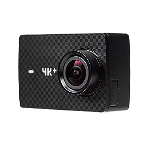 YI 4K Plus Action Kamera 4K/60fps 12MP Action Cam mit 5,56 cm (2,2 Zoll) LCD Touchscreen 155° Weitwinkelobjektiv, Sprachbefehl, WiFi und App für IOS/Android – schwarz