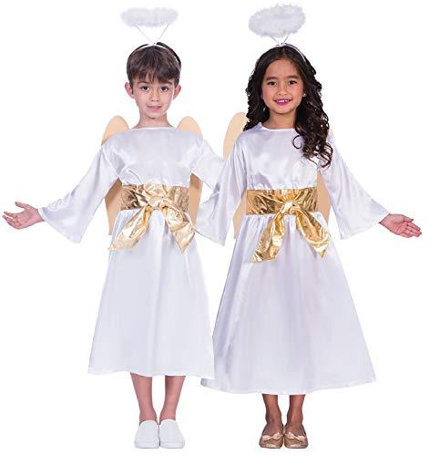 Fancy Me Kinder Mädchen Jungen Engel Gabriel Weihnachten Weihnachten Weihnachten Weihnachten Festliche Krippe Kostüm Outfit 3-12 Jahre