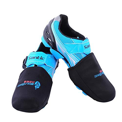 Shinyever caldo scarpa bici mezza scarpa copri dita,sport all'aria aperta invernale,resistente e elastico mtb ciclismo bicicletta antipolvere