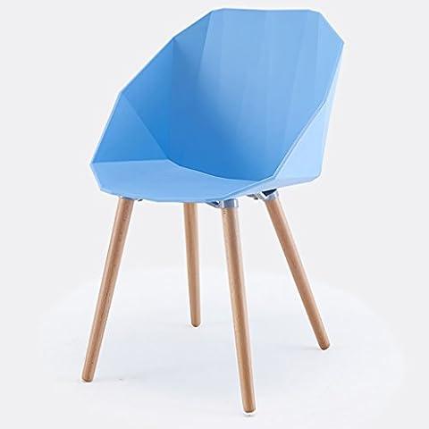 Chair Chair Handrail Chair Chair Creative Casual Backrest Chair Designer Plastic Simple Coffee European Chair Reception Chairs ( Color : Blue )