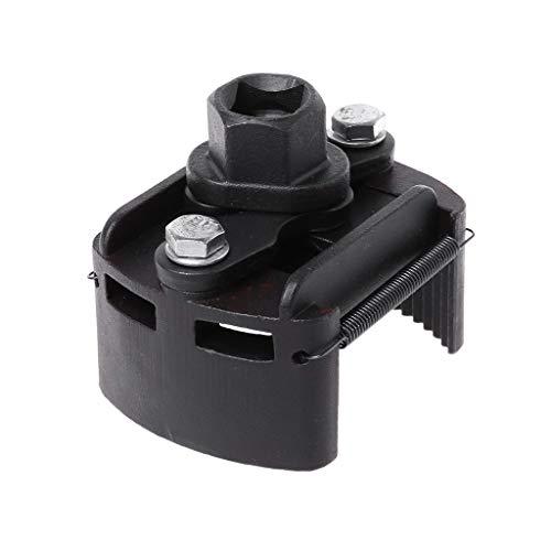 JAGETRADE Outil de dépose de Carburant Remover Clé à Filtre réglable, clé à molette en Acier moulé, Noir