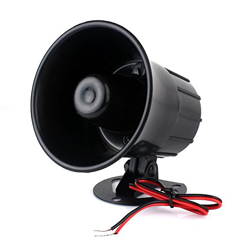Autofier Universal Car alarm siren 6 tone Car security alarm siren 12 V 15W