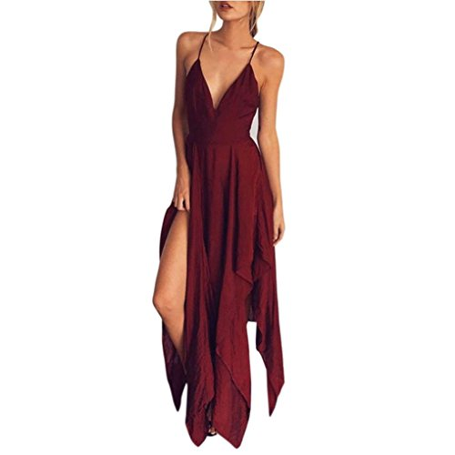 TWIFER Damen Boho Long Abendgesellschaft Cocktail Casual Strandkleid Partykleid Sommer Kleid