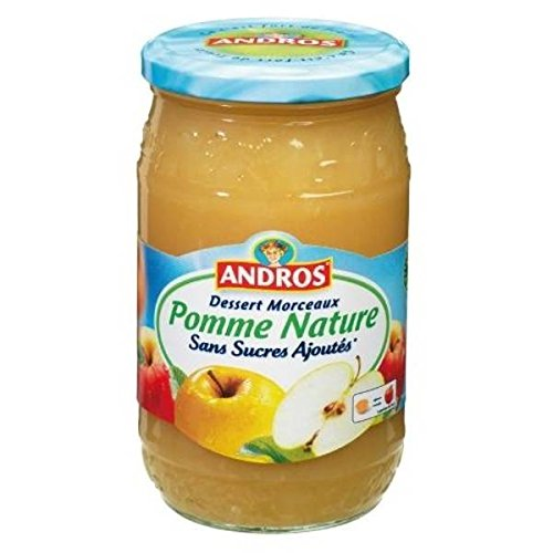 Andros sans sucres ajoutés pomme nature morceaux bocal 695g - ( Prix Unitaire ) - Envoi Rapide Et Soignée
