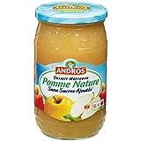 Andros sans sucres ajoutés pomme nature morceaux bocal 695g Envoi Rapide Et Soignée ( Prix Par Unité )