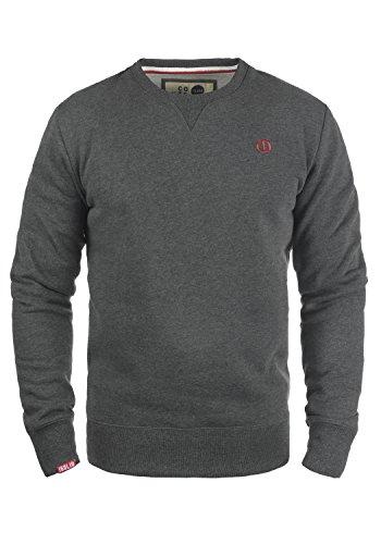 !Solid Benn O-Neck Herren Sweatshirt Pullover Pulli mit Rundhalsausschnitt, Größe:L, Farbe:Med Grey (8254)
