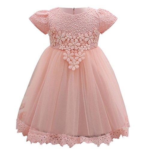 Btruely Mädchen Princess Kleid Baby Hochzeitskleid Kurzarm Partykleid Mädchen Festlich...