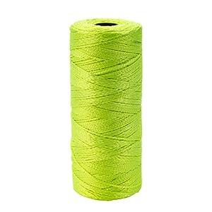 Mutuo Industries 14661–139–550nailon trenzado cordel de albañil, 1/2lb., 18x 550«, Glo, Color (Pack de 6)