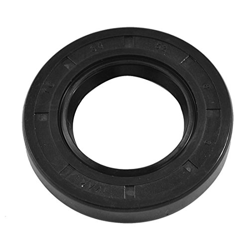 sourcingmap 30mm x 52mm x 8mm Nitrile Gummi doppel Lippe TC Öl Wellendichtung schwarz de