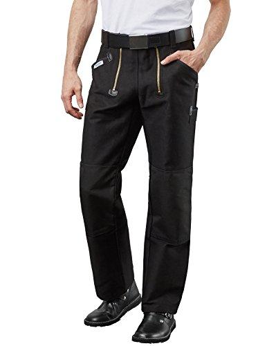 Preisvergleich Produktbild PIONIER WORKWEAR Herren Zwirndoppelpilot-Zunfthose Cordura® in schwarz (Art.-Nr. 330) schwarz,Größe 50