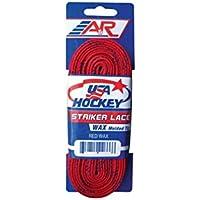 """A&R - Cordones para patines de hockey (encerados) rojo rosso Talla:108"""""""