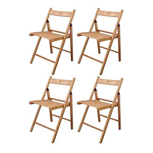 LVJING IKEA Klappstuhl, Klappstühle aus Holz, naturfarben, 4 Stück