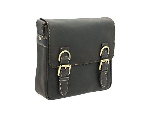 Pelle Visconti Style Messenger Bag 16012 Olio Tan Fango
