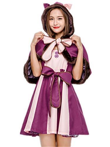 Cheshire Cat Kostüm Machen - Fanessy. Mädchen Damen Grinsekatze Kostüm Kleid