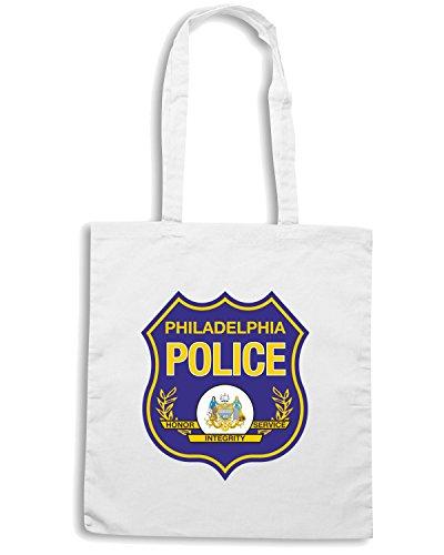 T-Shirtshock - Borsa Shopping TM0112 Philadelphia Police Department citta Bianco