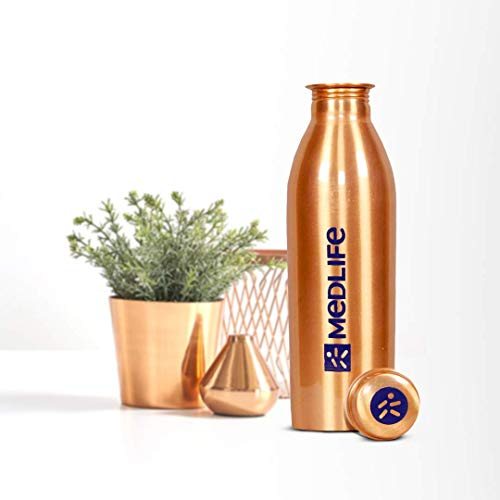 Medlife Pure Copper Water Bottle (1000 ML)