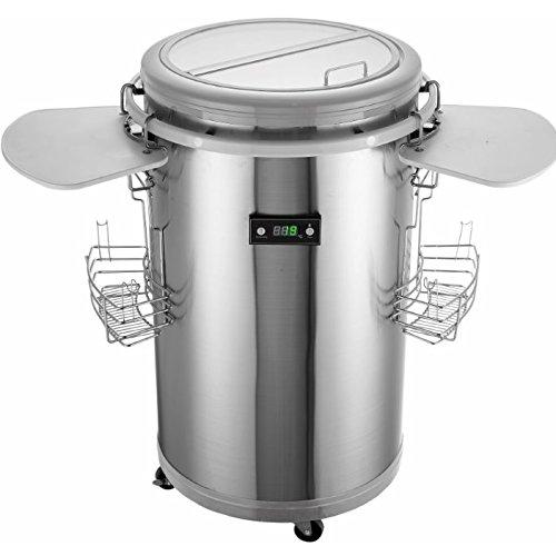 Gino Gelati Party Kühlschrank Edelstahl mit Weiß Kühlbox, Getränkekühlschrank