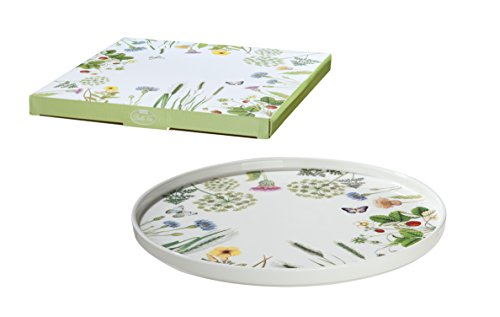 Guilde Plateau à gâteau Assiette en porcelaine Fleurs et papillons \\