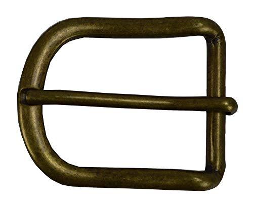 flevado Gürtelschnalle Vintage antik Buckle 4 cm Metall Dornschließe für Gürtel mit 4 cm Breite M 5