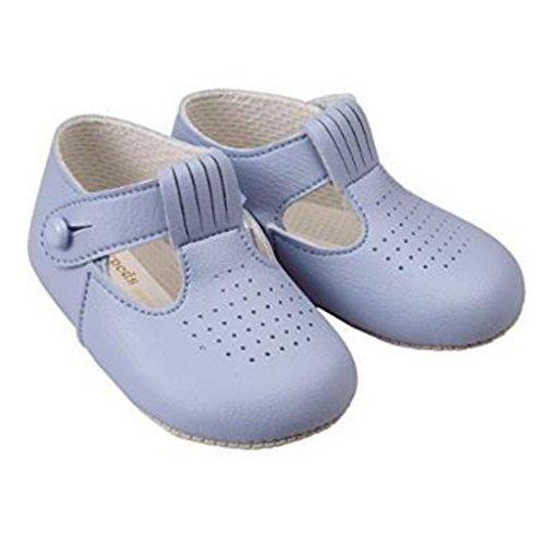 Kinderwagen Baby Baypods Himmelblau Early Mit muster Schuhe Hergestellt Jungen Days England Von In T bar Lochausschnitt WqFwXddanT