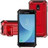 KUAWEI Coque Samsung Galaxy J3 2017 Armure Series - Lourde Hybride Protège avec...