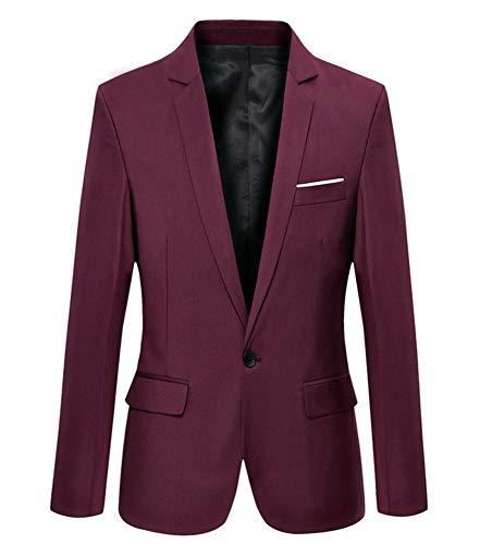 Benibos - Blazer - para Hombre Rojo Granate S