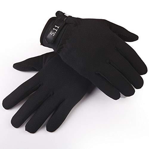 MINMINA Herren Outdoor Reithandschuhe Taktische Lange Fingerhandschuhe Fitness Handschuhe Outdoor Reithandschuhe, Freie Größe, Schwarz (Thermal-taktische)