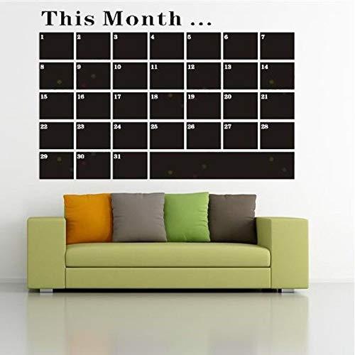 haotong11 DIY monatlichen tafel Kalender Vinyl wandtattoo abnehmbare Planer wandbild tapete Geschenk für Kinder Vinyl wandaufkleber 53x78cm (Planer Kalender Monatlichen)