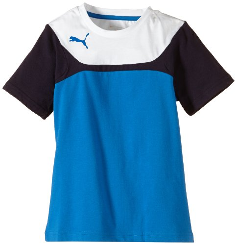 PUMA Kinder T-shirt Esito 3 Leisure Tee, royal-white, 164, 653969 02