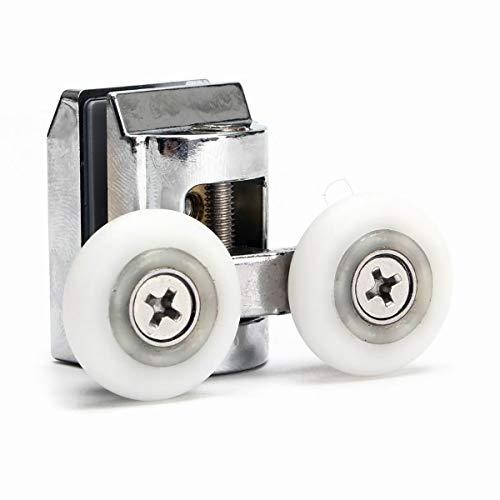 Doppelte Schiebetüren für Duschkabinen, 23 mm, 2 Stück -